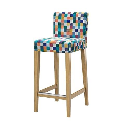 Soferia - IKEA HENRIKSDAL Funda Taburete Alto, Mozaik White