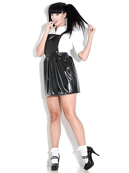 Amazon.com: PVC U como mujer vestido escuela disfraz en ...