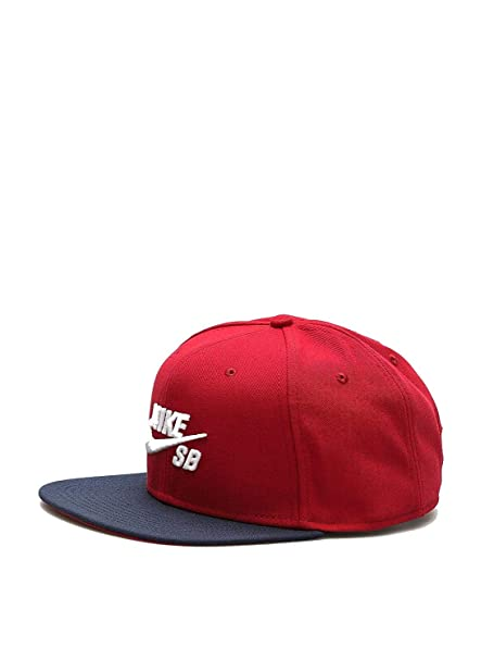 e9e59b948 NIKE Mens SB Icon Pro Snapback Hat (One Size, Team Red/Obsidian ...