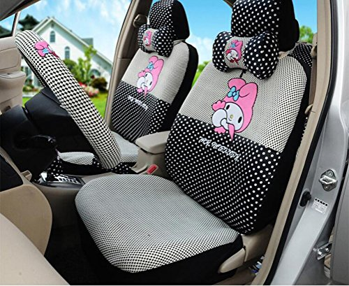 Black Cartoon Women's Car Seat Cover Car Cushion Decoration 18Pcs by PPSEX