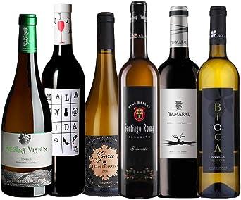Pack de Vinos | 6 botellas de vino 75 cl. - 4 vinos blancos y 2 ...