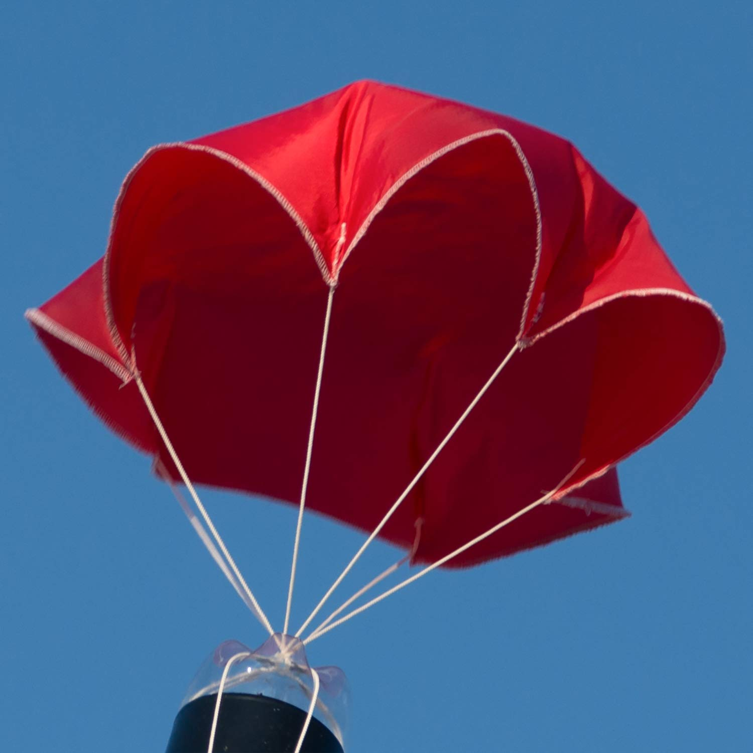 """Relationshipware StratoChute 24"""" Red Rip-Stop Nylon Parachute for Water or Model Rocket"""