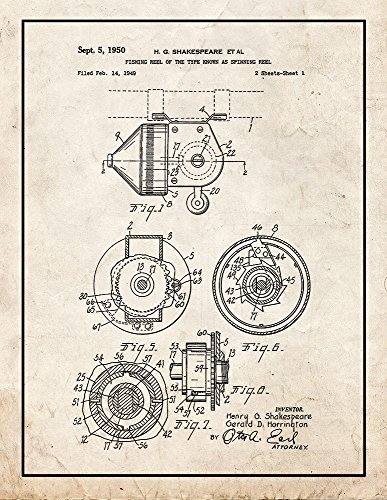 Fishing Reel of The Type Known As Spinning Reel Patent Print