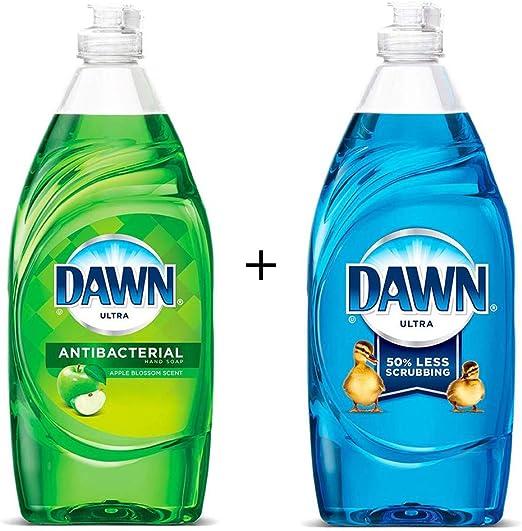 Jabón de manos ultra antibacteriano Dawn, líquido de lavaplatos ...