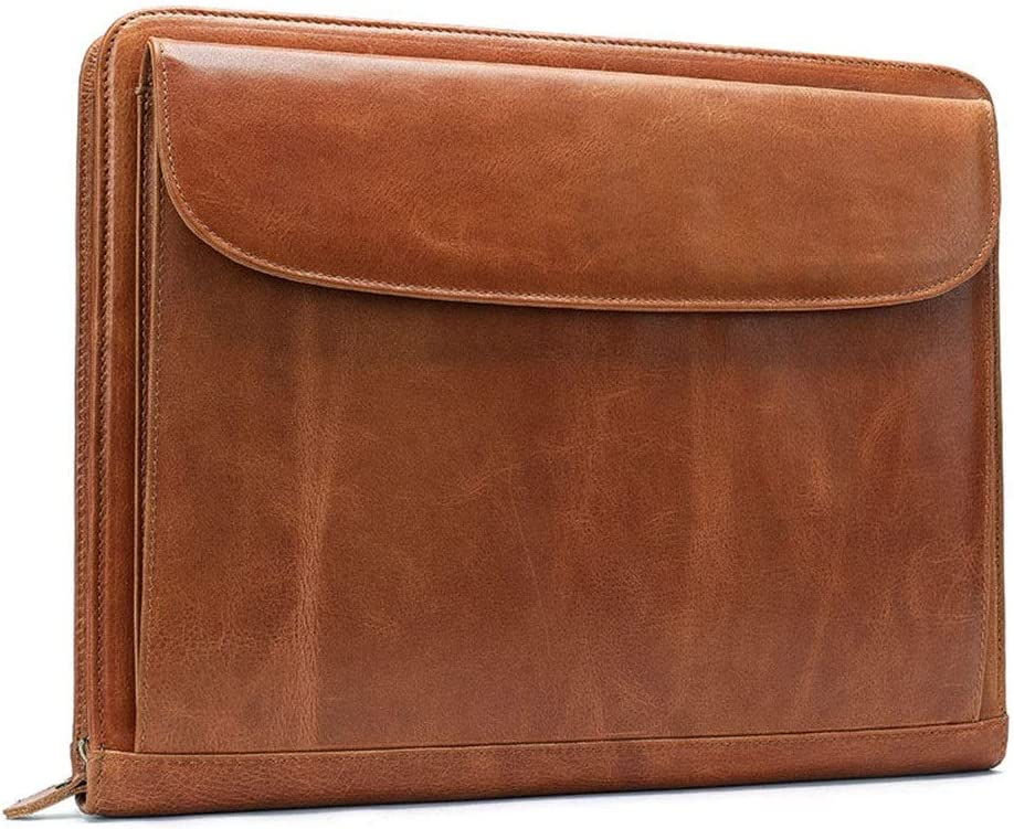 Color : Brown , Size : 35x27x2cm Laptop Messenger Bag New Small Simple Leather Briefcase A4 Business File Package Laptop Bag Men And Women Leather Envelope Bag Briefcase Laptop Messenger Bag