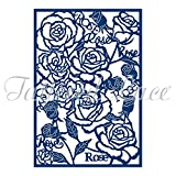 Tattered Lace Essentials Rose Panel Background Cutting Die ETL127