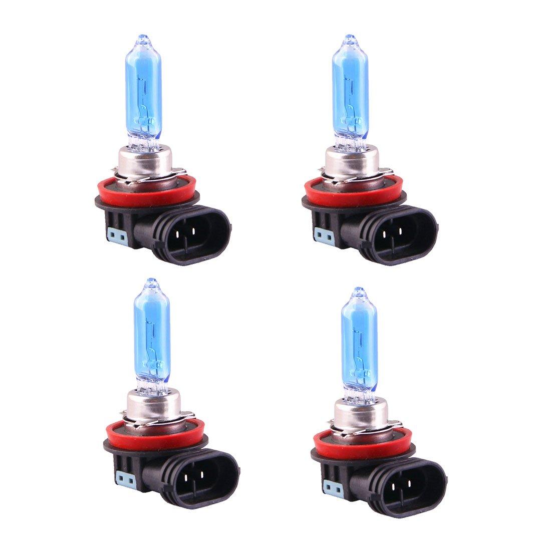 H9 12V 65W Super White Halogen Xenon Filled Bulb High Beam Light (Package of 4) LEZEN