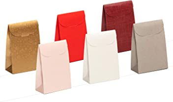 For Different Occasions as Christmas Eve Graduations 17.0x6.8x23.5 cm Giovanni Grazielli 6 Set of Cardboard Gift Boxes /& Bags with Lids Bridesmaid Wedding Kids or Baby Shower Party Birthday