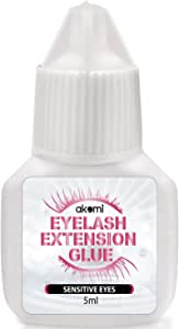 Eyelash Extension Glue for both Self and Professional Applications|Tasteless Non-Stimulating | 3-5 Sec Drying Time | Retention 30-40 Days | Sensitive Black Eyelash Glue by Bonnie, 5ml