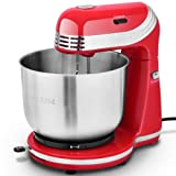 Costway Electric Food Stand Mixer Stainless Steel 6 Speed Blender Bowl Dough Hook Beater