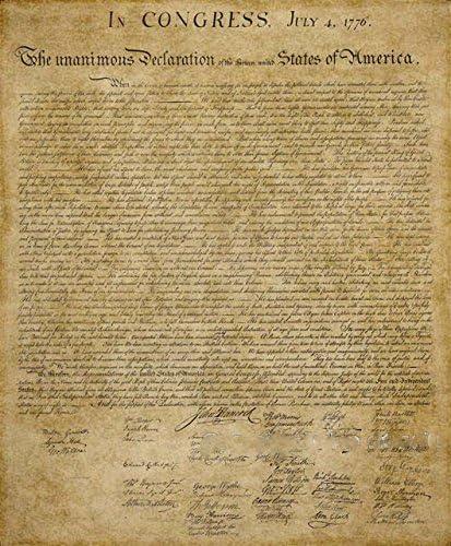 Ruimeng Vintage algodón declaración de independencia lienzo decorativo pintura (Beige): Amazon.es: Oficina y papelería