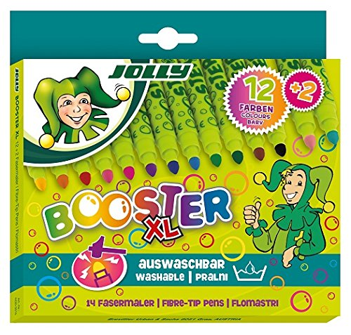 Jolly Booster XL Jumbo Brilliant Color Washable Ink Markers; Set of 14