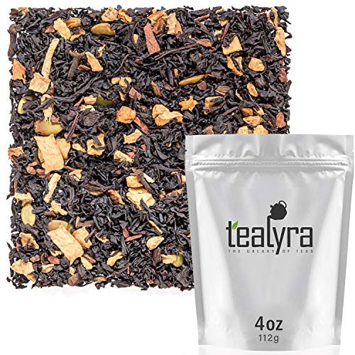 Tealyra - Pumpkin Spice Chai - Ginger - Cinnamon - Black Loose Leaf Tea Blend - Spiced - Bold Taste - All-Natural Ingredients - Bold Caffeine - 112g (4-ounce)