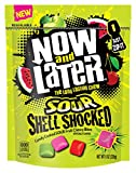 Now & Later Sour Shell Shocked Fruit Chewy Bites Candy, 8 Ounce Bag, Pack of 6