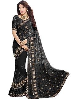 Craftsvilla Chiffon Saree With Blouse Piece Fkms207 9004
