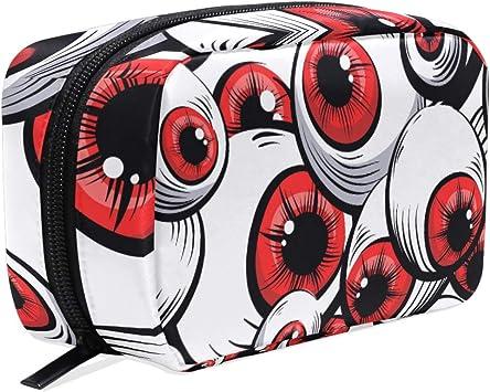 Neceser de Ojos Rojos para Halloween, Estuche de Maquillaje, Estuche para lápices, Bolsa organizadora de Viaje de Monster Eye para Mujeres y niñas: Amazon.es: Equipaje