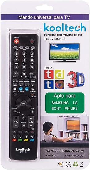 Kooltech 018451 Universal Remote 4 In 1/321/25/100: Amazon.es: Electrónica