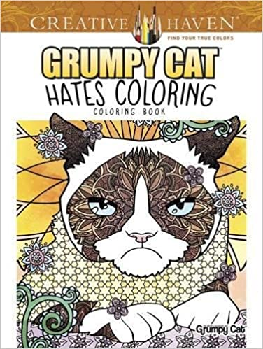Amazon Creative Haven Grumpy Cat Hates Coloring Book Adult 0800759808137 Diego Jourdan Pereira Books