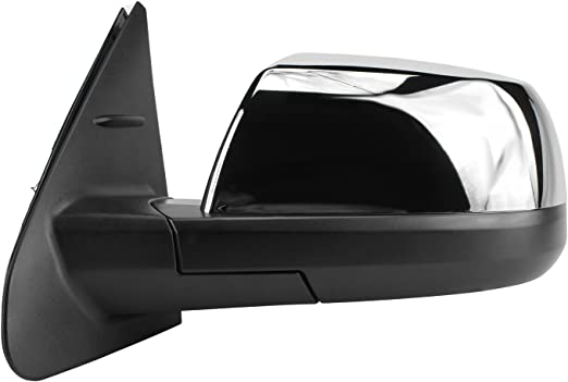 Passenger Side Mirror for Toyota Tundra Foldaway Textured Black w//o Blind spot Detection System Manual