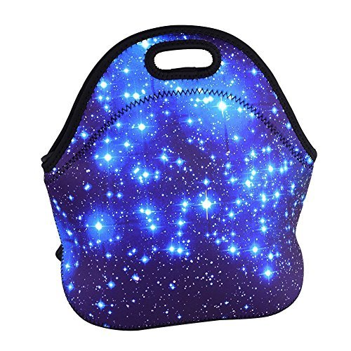 Skyfall Soft Boys Girls Waterproof Insulated Neoprene Food Container School Office Travel Outdoor Work Lunch Bag Tote Cooler Lunchbox Handbag Food Storage Carrying Case (Sky) by Skyfall