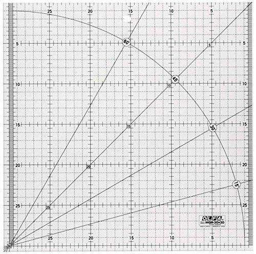 OLFA MQR - Righello da patchwork, 30 x 30 cm MQR-30x30