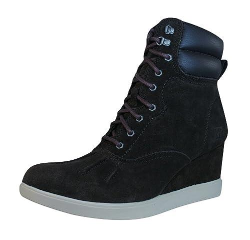 Caterpillar Felicity Wedge Heel Mujeres Suede Botines/Zapatos-Brown-39: Amazon.es: Zapatos y complementos
