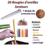 20 Bougies d'oreilles coniques - PANACHAGE de senteurs