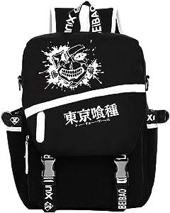 Gumstyle Tokyo Ghoul Anime Cosplay Luminous Laptop Backpack Rucksack Schoolbag Book Bag Unisex Student Black