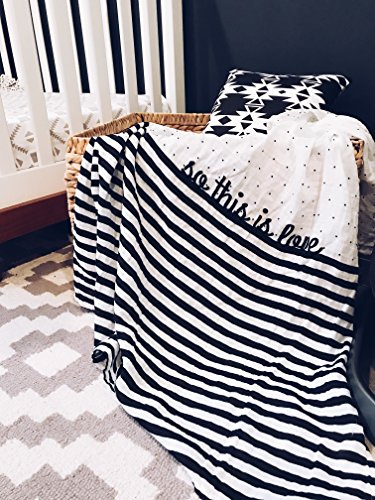 So This is Love Swaddle Blanket Organic Cotton Muslin by Charlie Rowan Designs
