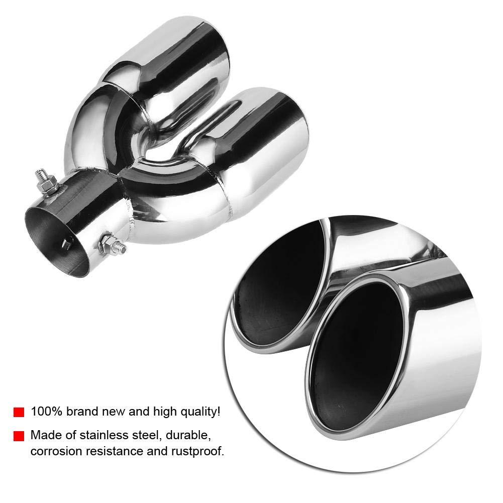 Silenciadores de escape de acero inoxidable 63-76-220 para tubo de escape de coche