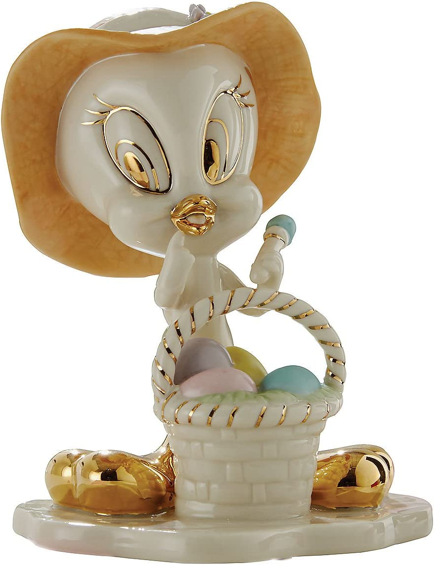 Lenox Tweety s Easter Egg Basket Figurine Bird Warner Brothers Looney Tunes