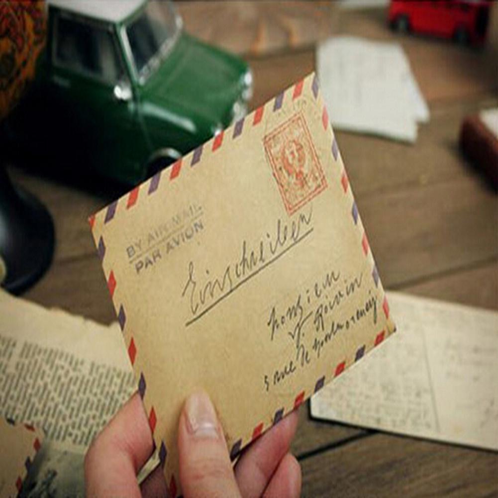 bestforever21Nuovo 10fogli Mini Busta Cartolina Lettera Carta di stoccaggio stationnaire Vintage