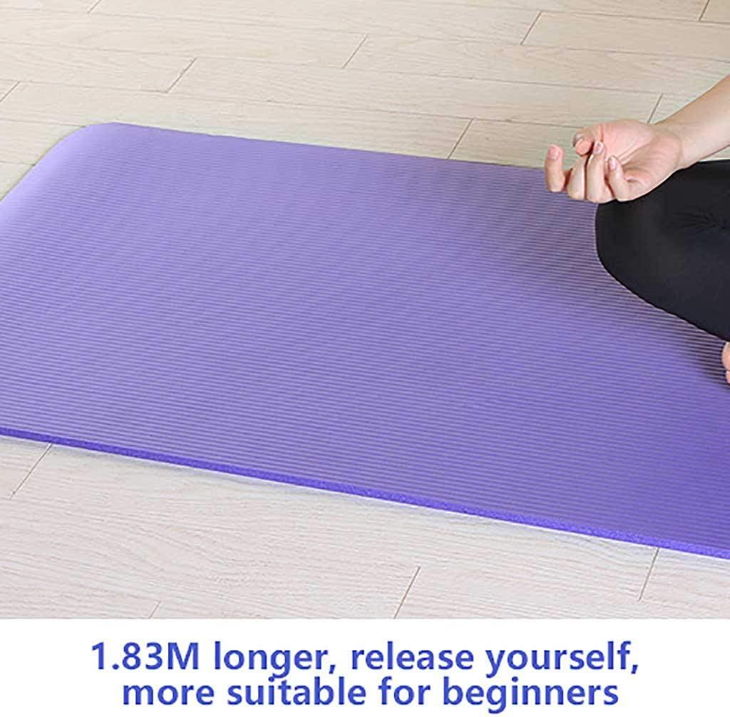 Turnmatte rutschfest Premium Yogamatte Sportmatte BJJH Pilates Gymnastikmatte 183 x 61 x 1cm Fitnessmatte Fitness Pilates Hautfreundliche Fitnessmatte