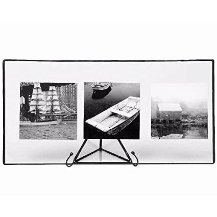 Amazon.com - Clear Glass Float Frame 11x5.50 / 10x4 Black by Bedford ...