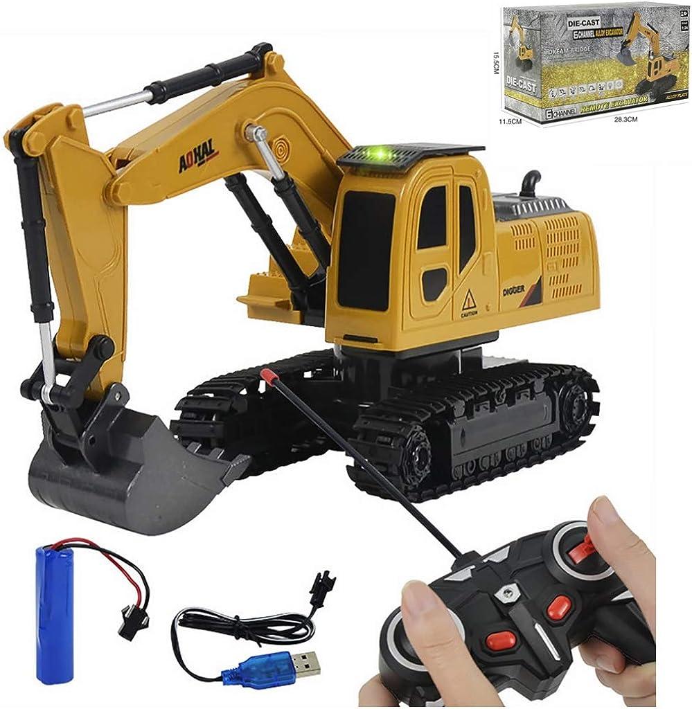 1:24 Remote Control Excavator RC Car Tractor Bulldozer Crawler Truck Toy Digger