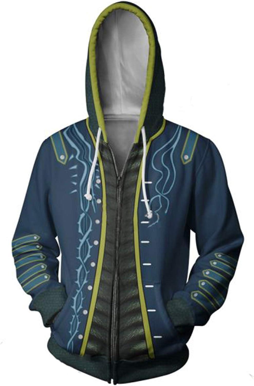 Unisex Hoodie Devil May Cry Graphic Printed Hooded Sweatshirt Top