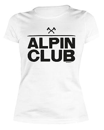 e6339808fe5cc2 Alpinisten Klettern Bergsteigen Wandern T-Shirt Damen Berg Sport  Bergfreunde Freizeit Bedruckt Alpin Club Gruppen Klettersteiggehen  -   Amazon.de  ...