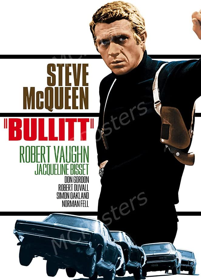 "PremiumPrints - Bullitt Steve McQueen Glossy Finish Made in USA Movie Poster - MCP157 (24"" x 36"" (61cm x 91.5cm))"