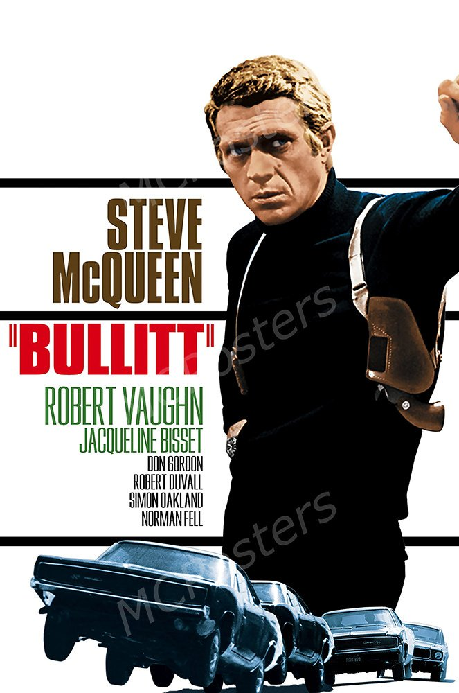"""MCPosters Bullitt Steve McQueen GLOSSY FINISH Movie Poster - MCP157 (24"""" x 36"""" (61cm x 91.5cm))"""