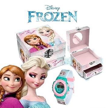 FROZEN caja joyería + FROZEN Reloj regalos: Amazon.es: Juguetes y ...