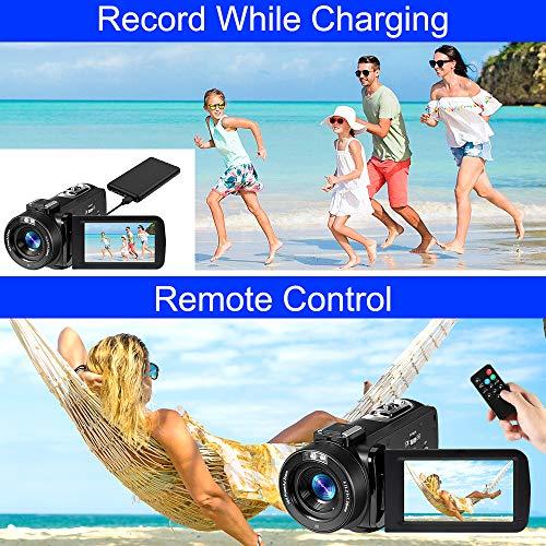 Digital Video Camera YouTube Vlogging Camcorder, HD 1080P 30FPS 24MP 16X Digital Zoom 3.0 Inch 270 Degree Rotation LCD, Video Camera Digital Students Cameras, for Men/Women/Seniors/Kids