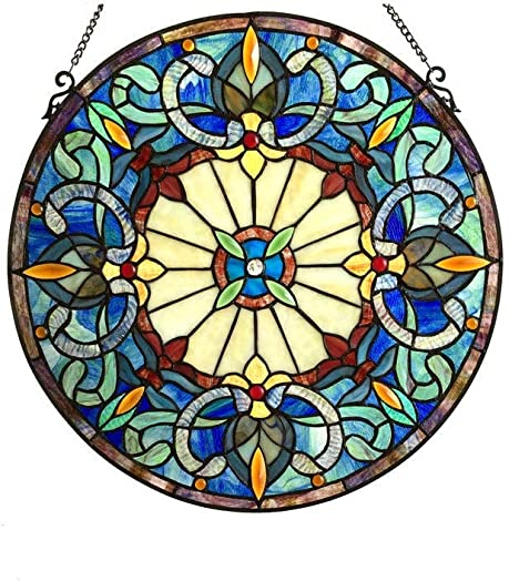 Chloe Lighting Frances Collection Victorian Style Window Panel Suncatcher