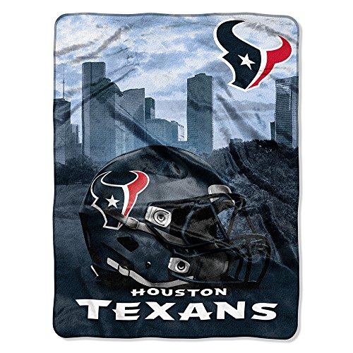 The Northwest Company NFL Houston Texans Silk Touch Raschel Super Plush Throw, One Size, ()