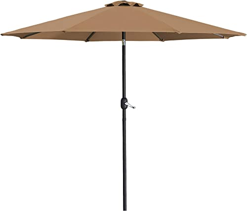 SUNVIVI OUTDOOR 9 Ft Patio Umbrella Market Table Outdoor Umbrella