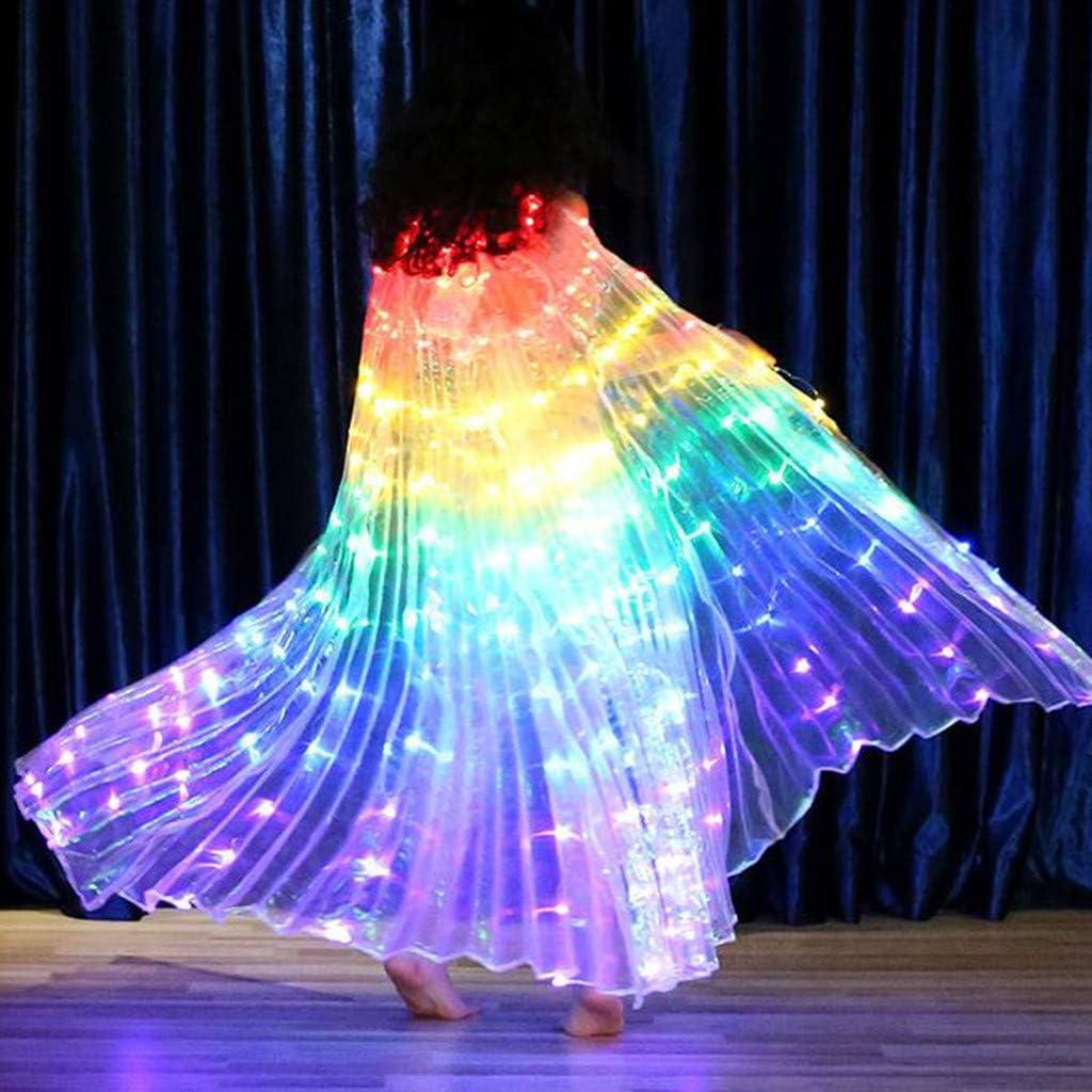 Surfiiy Danza del Vientre Ropa Niña Luminosa LED Colorida Mariposa ...
