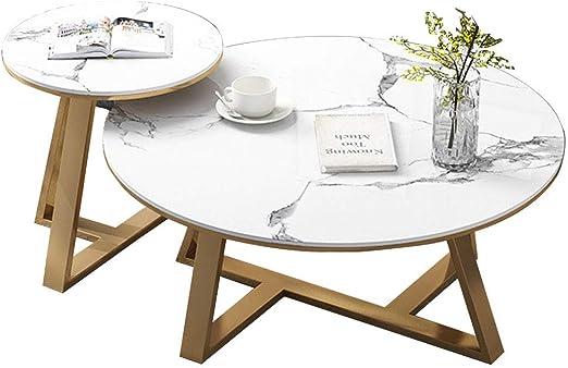 2 Juegos de Escritorio de Mesa de café anidables para Mesa de té ...
