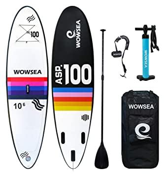 WOWSEA Tabla Hinchable Paddle Surf/Sup Paddel Surf con Inflador ...