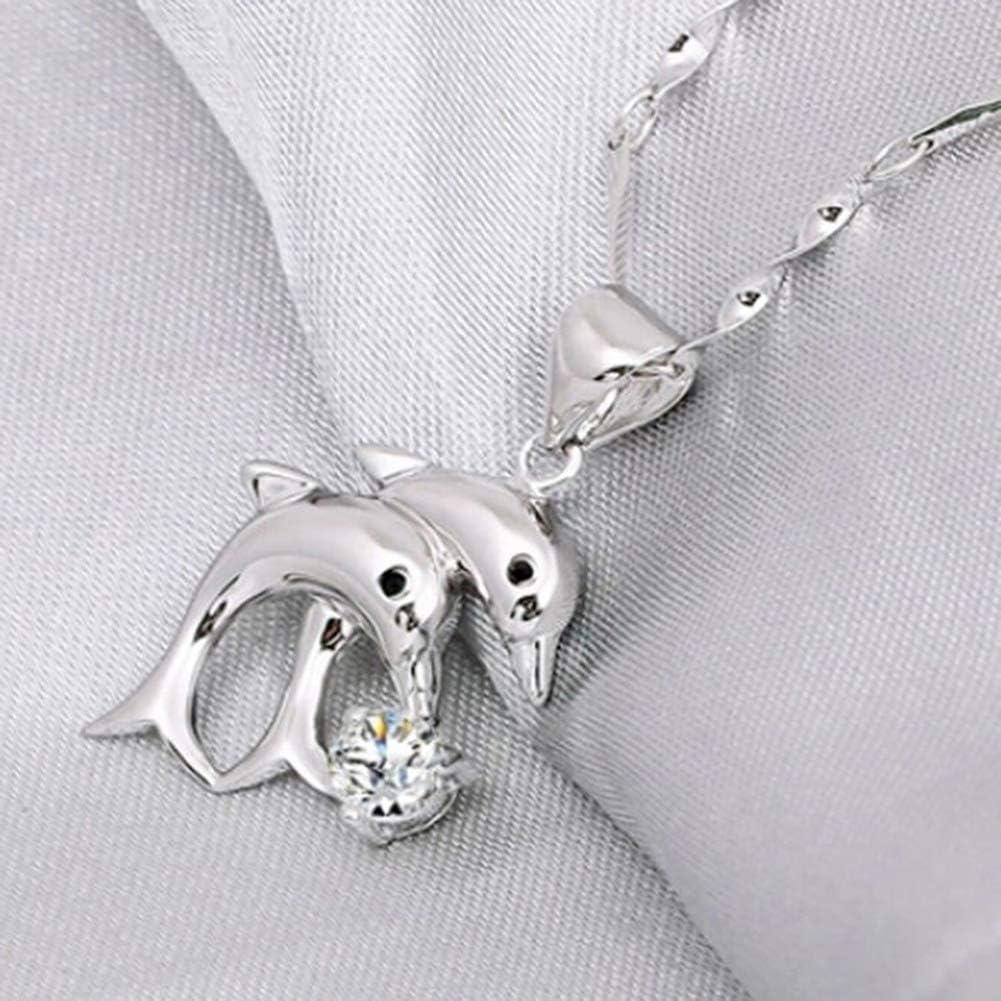 Ciondolo da Donna a Forma di Delfini con Strass intarsiati per Gioielli e collane Lsgepavilion