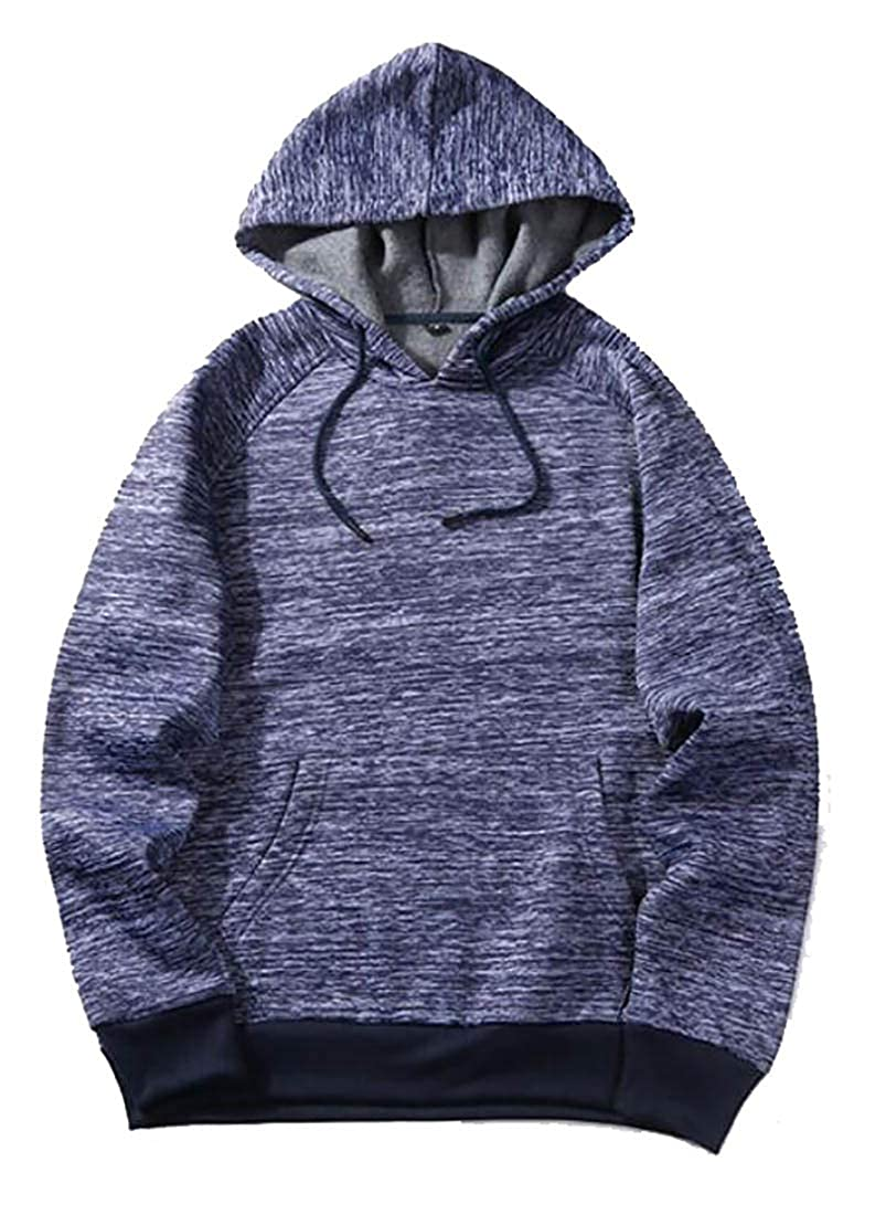 Rrive Mens Pocket Basic Drawstring Hoodie Pullover Sweatshirt