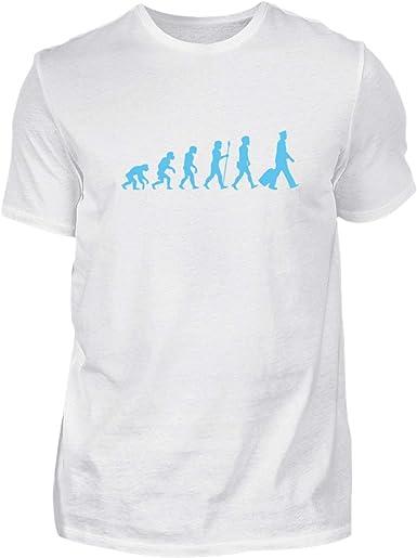 La Evolución del Piloto - Nómade - Viajar por el Mundo - Wanderlust - Camisa de Hombre: Amazon.es: Ropa y accesorios